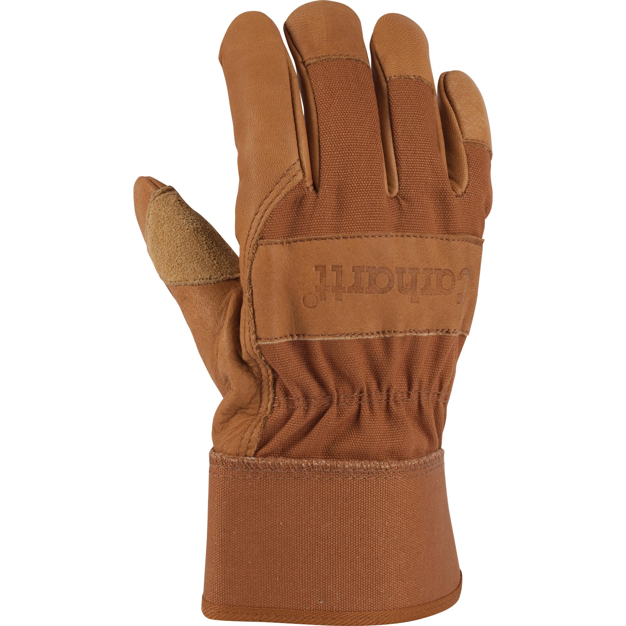 Leather palm work gloves wholesale - Grain Leather Work Glove Safety Cuff