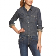 FR Western Denim Snap Shirt