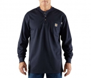 Men's Original Fit, Lightweight FR Cotton Long-Sleeve Henley Tha