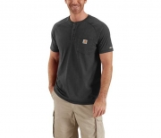 Force™ Cotton Short-Sleeve Henley