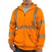 High-Visibility Zip-Front Sweatshirt – Class 3