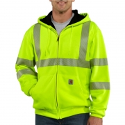 High-Visibility Thermal-Lined Hooded Sweatshirt– Class 3