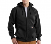 Paxton Heavyweight Hooded Zip Front Sweatshirt