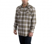 Men's Flame-Resistant Snap Front Plaid Shirt