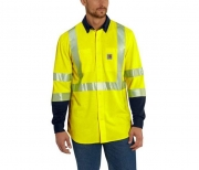 FR HIGH-VIS FORCE HYBRID SHIRT