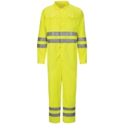 Hi-Vis Deluxe Coverall with Reflective Trim - CoolTouch