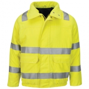 Hi Vis Lined Bomber Jacket with Reflective Trim - CoolTouch