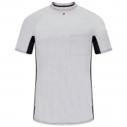 Short Sleeve FR Two-Tone Base Layer with Concealed Chest Pocket-
