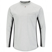Long Sleeve FR Two-Tone Base Layer with Concealed Chest Pocket -