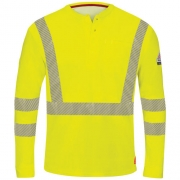 iQ Series Comfort Knit ANSI Hi-Visibility Long Sleeve Henley