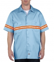 Enhanced Visibility Short Sleeve Twill Work Shirt