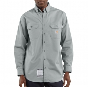Flame-Resistant Twill Shirt with Pocket Flaps