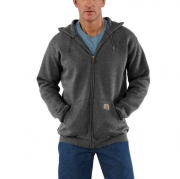 Midweight Hooded Zip-Front Sweatshirt